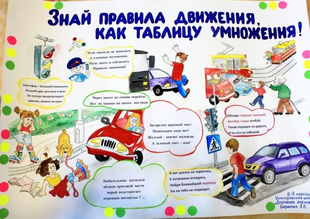 Плакаты на тему правила дорожного движения в детский сад 194